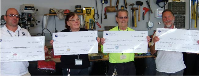 MAPCO Employees Donate Their Winnings