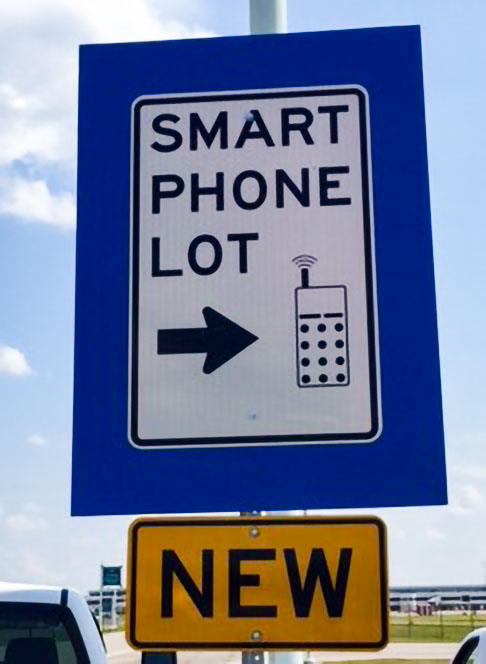 New ROC Airport Smart Phone Lot